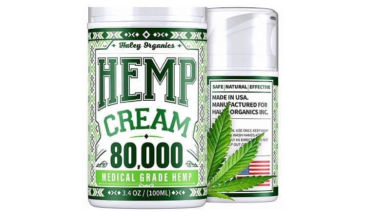 Haley Organics Pain Relief Cream With Hemp Oil